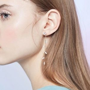 3/$35 LAST ONE! Cascading Crystal Leaf Earrings